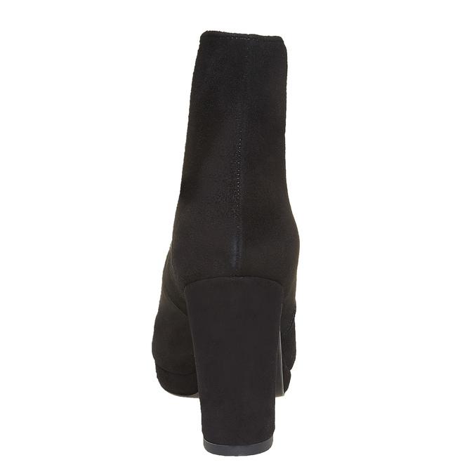 Bottine en cuir dotée d'élastiques latéraux bata, Noir, 793-6570 - 17