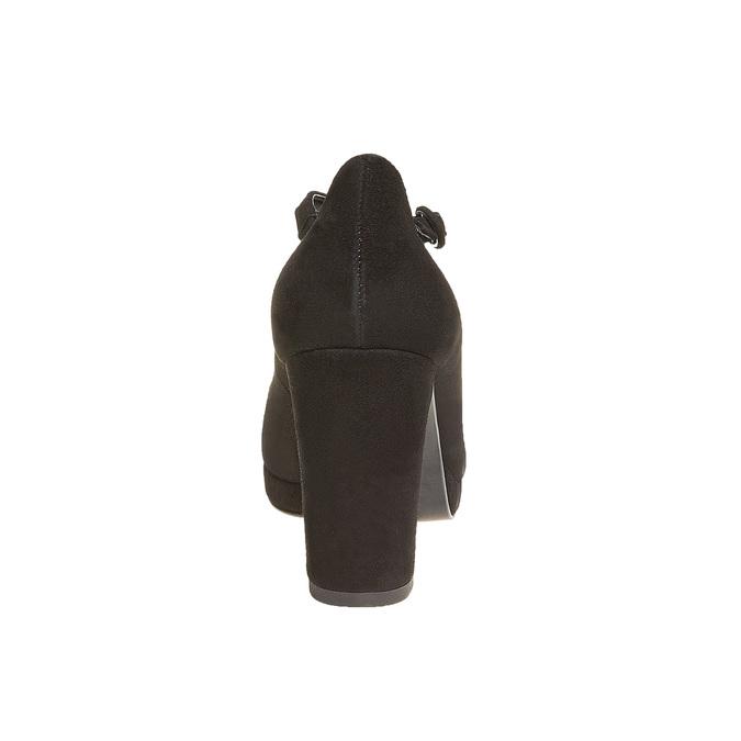 Escarpin en cuir avec bride en T bata, Noir, 723-6501 - 17