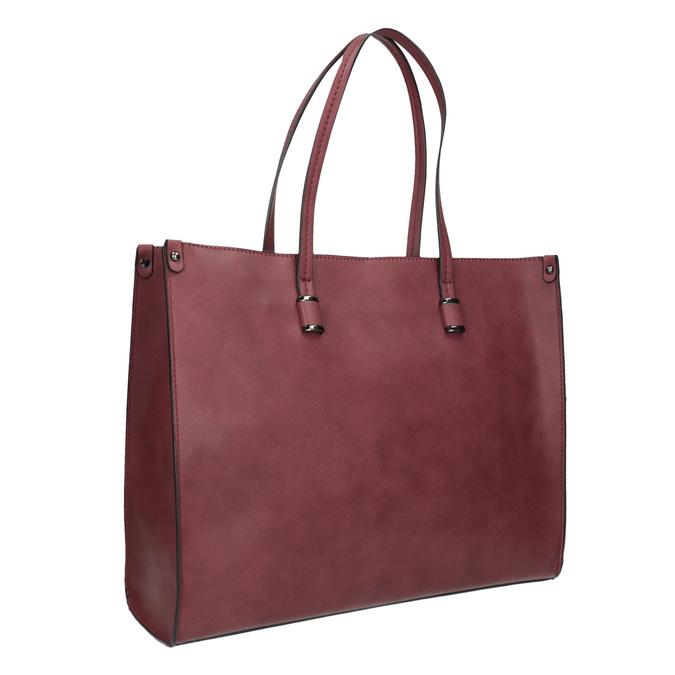 Sac à main femme de style Shopping bata, Rouge, 961-0736 - 13