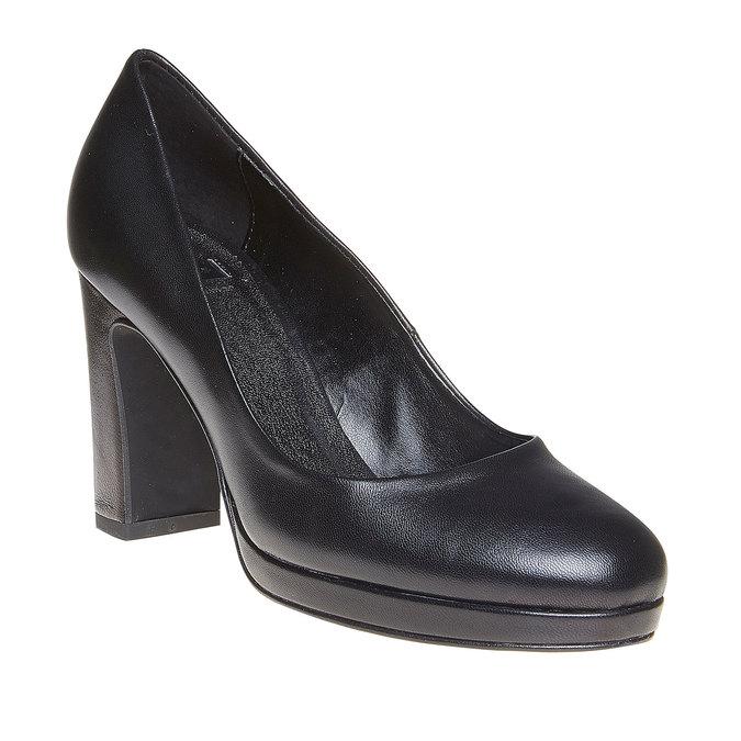 Escarpin en cuir noir pour femme bata, Noir, 724-6500 - 13