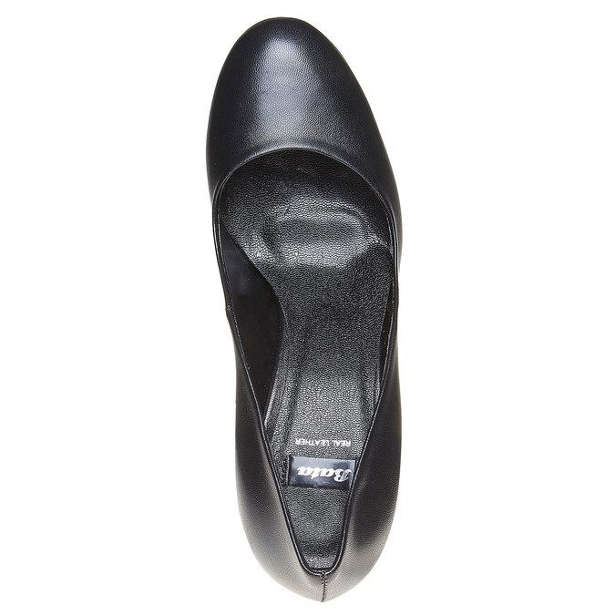 Escarpin en cuir noir pour femme bata, Noir, 724-6500 - 19