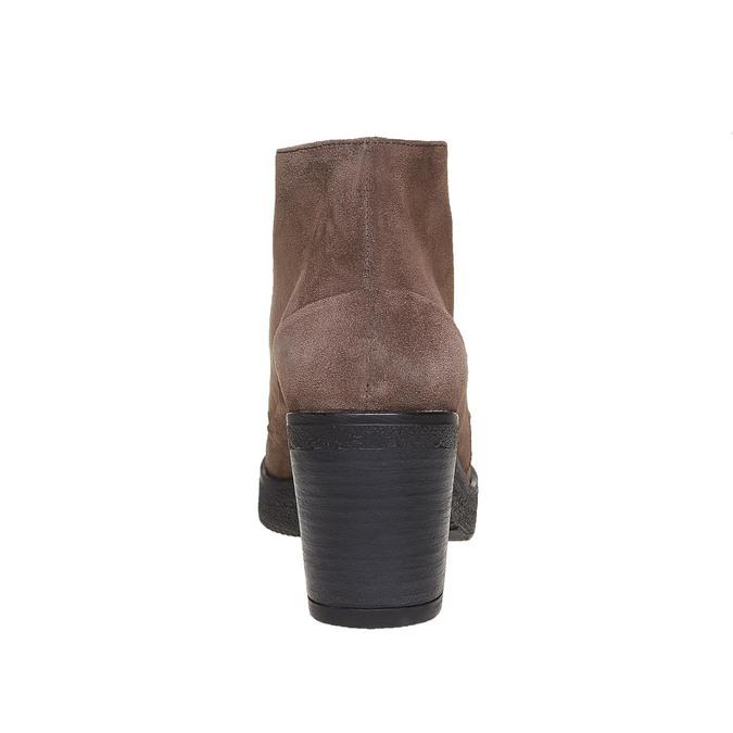 Chaussure à lacets en cuir pour femme bata, Gris, 693-2381 - 17