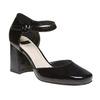 Sandale vernie en cuir à bout fermé bata, Noir, 728-6372 - 13