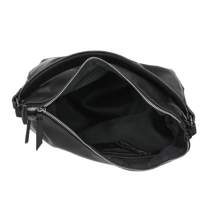 Sac Hobo avec zip décoratif bata, Noir, 961-6609 - 15