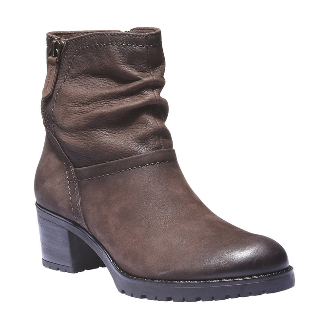 Bottine en cuir bata, Brun, 696-4128 - 13