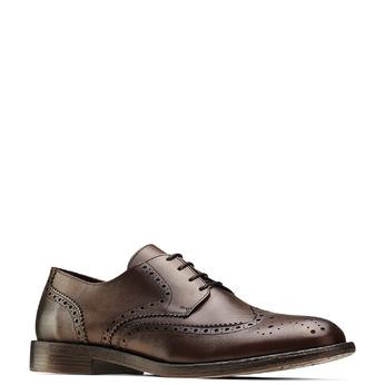 Chaussure lacée en cuir pour homme style Derby bata, Brun, 824-4429 - 13