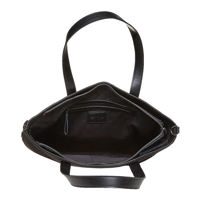 Sac à main dans le style Shopper bata, Noir, 961-6847 - 15
