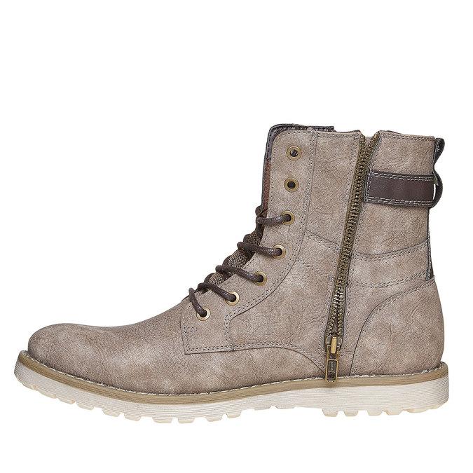 Chaussure montante homme bata, Gris, 891-2237 - 19