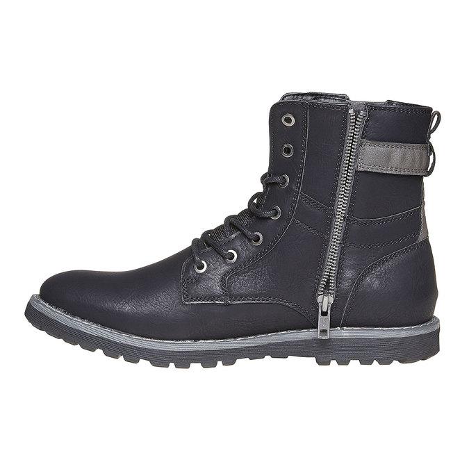 Chaussure montante homme bata, Noir, 891-6237 - 19
