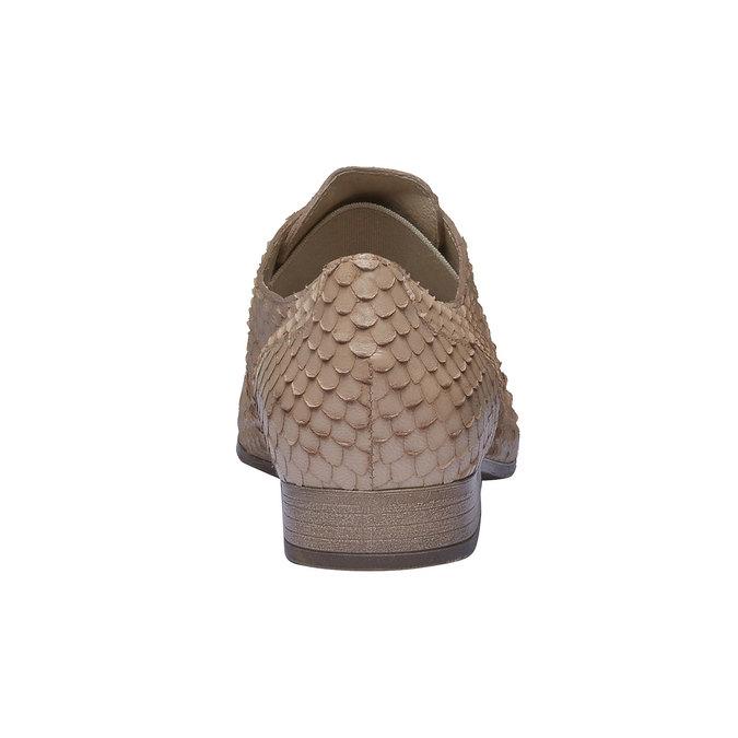Chaussure lacée en cuir pour femme bata, Brun, 514-8212 - 17