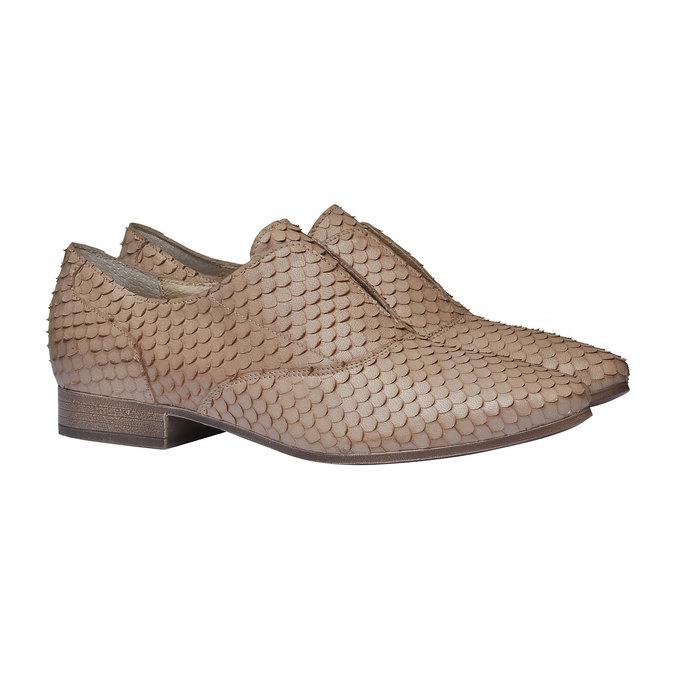 Chaussure lacée en cuir pour femme bata, Brun, 514-8212 - 26