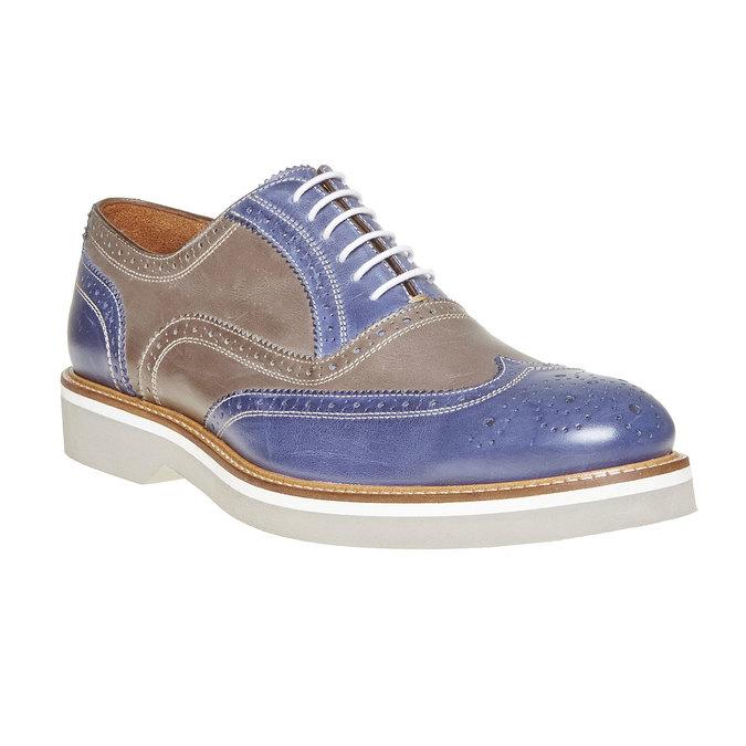 Chaussure lacée en cuir à semelle épaisse shoemaker, Violet, 824-9776 - 13
