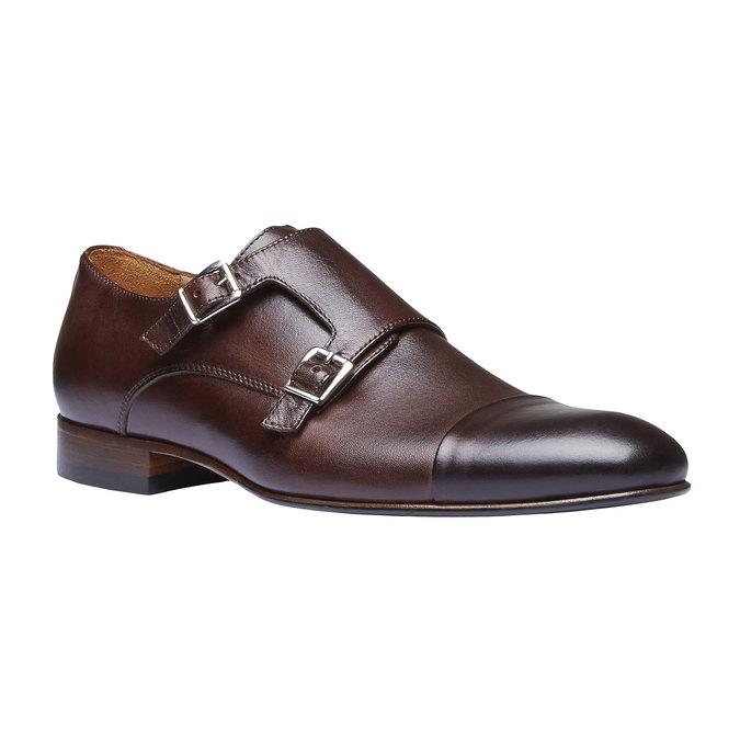 Monk Shoes en cuir pour homme shoemaker, Brun, 814-4144 - 13