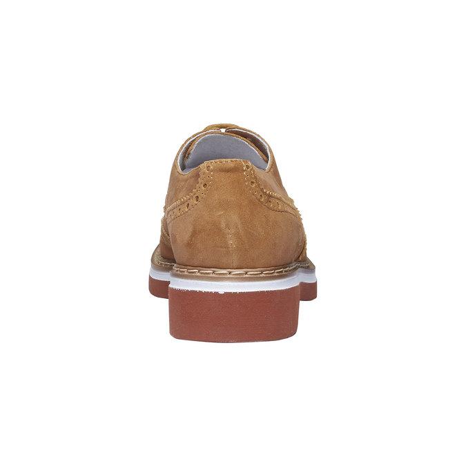 Chaussure de ville en cuir pour femme semelle épaisse bata, Brun, 523-3489 - 17