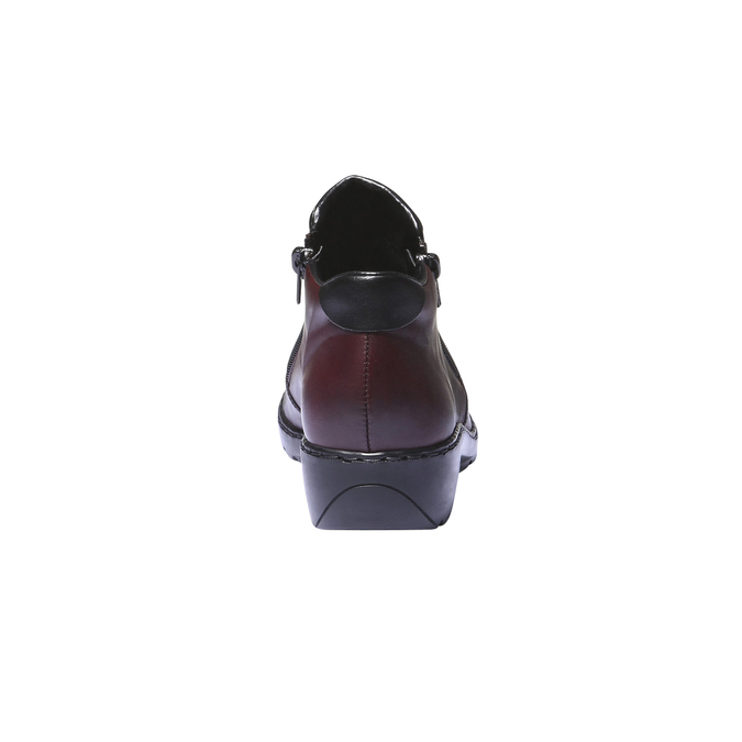 Bottine en cuir rieker, Rouge, 514-5171 - 17