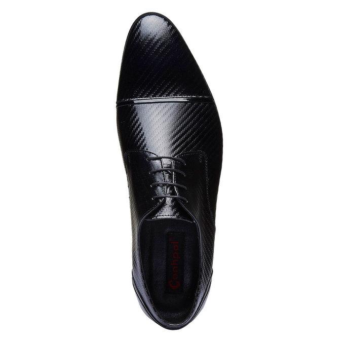 Chaussure lacée en cuir pour homme, Noir, 824-6702 - 19