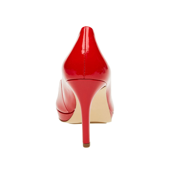 Escarpin en cuir rouge hogl, Rouge, 728-5002 - 17