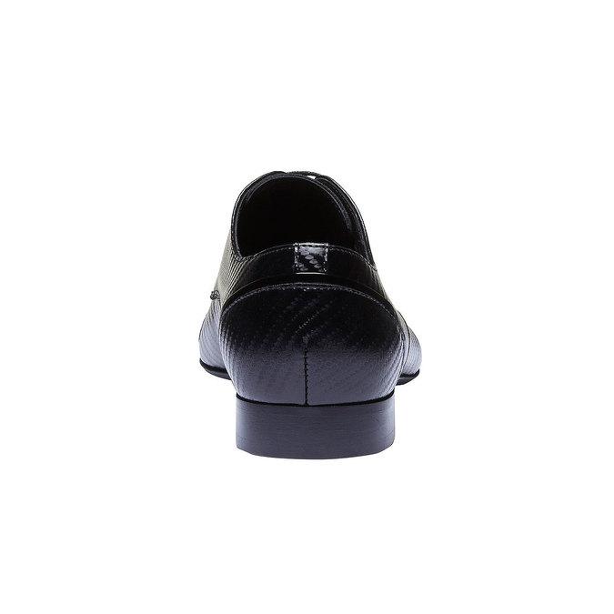 Chaussure lacée en cuir pour homme, Noir, 824-6702 - 17