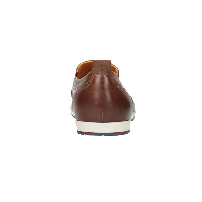 Chaussure Slip On en cuir pour homme bata, Brun, 814-4148 - 17