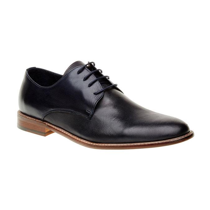 Chaussure lacée Derby en cuir pour homme bata, Bleu, 824-9551 - 13