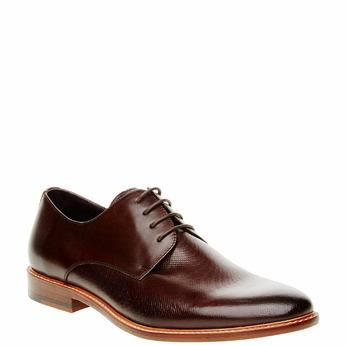 Chaussure lacée Derby en cuir bata, Brun, 824-4551 - 13