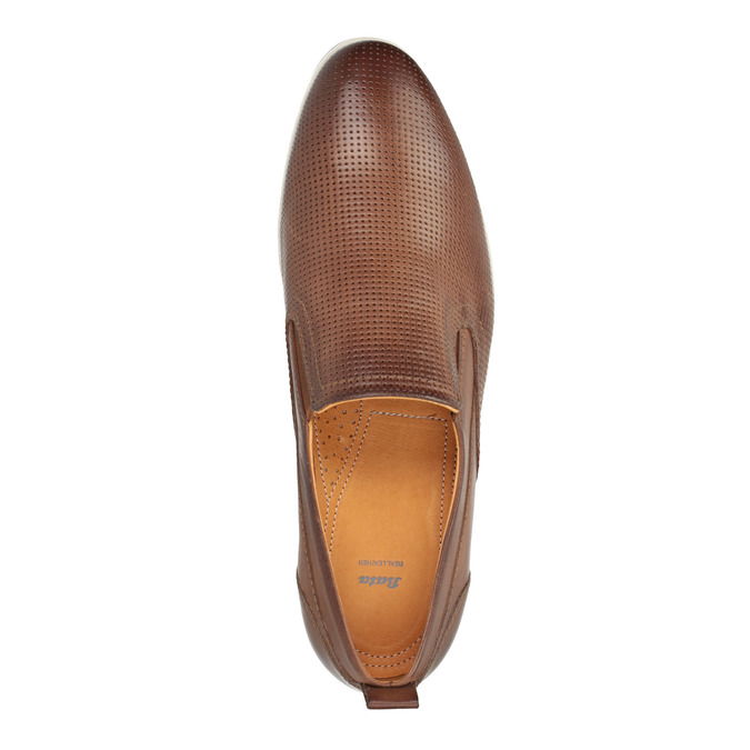 Chaussure Slip On en cuir pour homme bata, Brun, 814-4148 - 19
