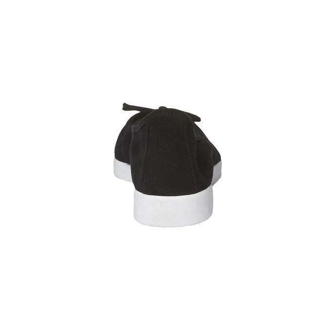 Ballerine pointue bata, Noir, 529-6494 - 17