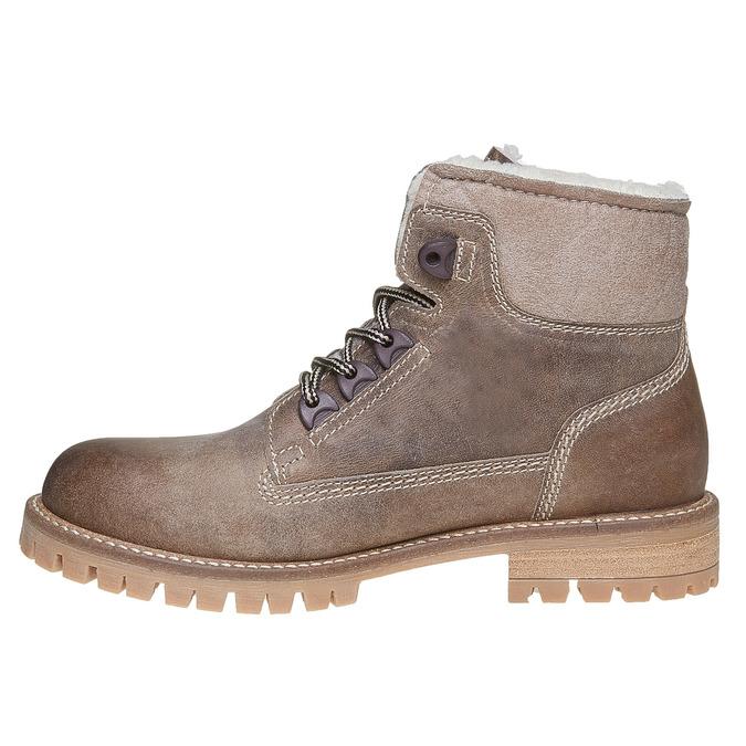 Chaussure d'hiver en cuir pour femme weinbrenner, Jaune, 594-8491 - 19