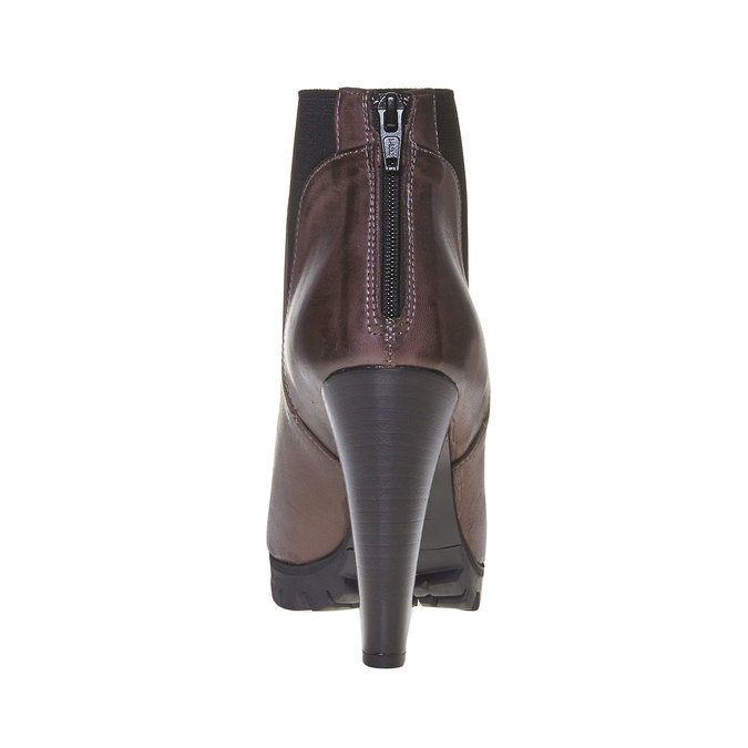Bottine en cuir bata, Gris, 794-2596 - 17