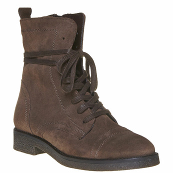 Chaussure en cuir pour femme bata, Brun, 593-4106 - 13