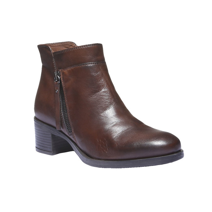 Bottines en cuir bata, Brun, 694-4166 - 13