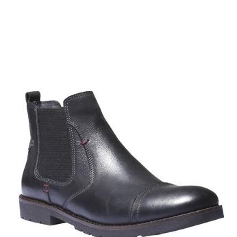 Bottines en cuir de style Chelsea bata, Noir, 894-6197 - 13