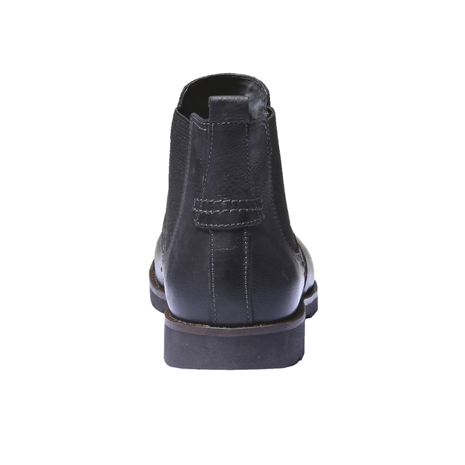 Bottines en cuir de style Chelsea bata, Noir, 894-6197 - 17