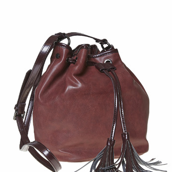 Sac à main Bucket bag bata, Rouge, 961-5884 - 13
