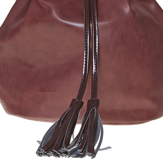 Sac à main Bucket bag bata, Rouge, 961-5884 - 17