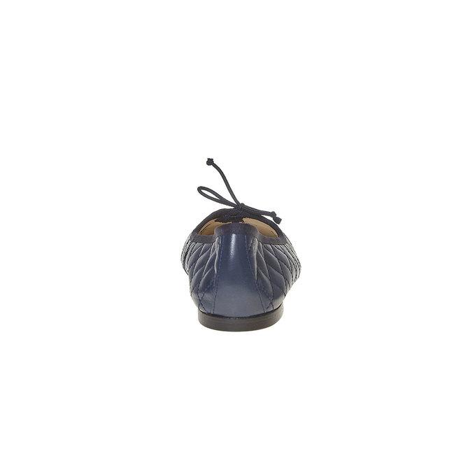 Ballerine en cuir avec surpiqûre bata, Bleu, 524-9431 - 17