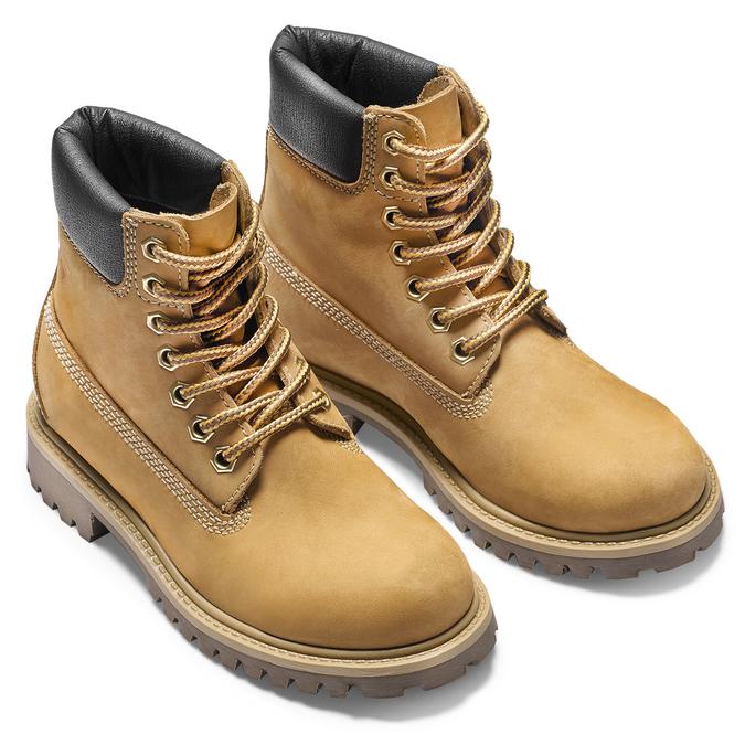 Chaussure pour enfant à semelle marquée weinbrenner-junior, Jaune, 396-8182 - 19