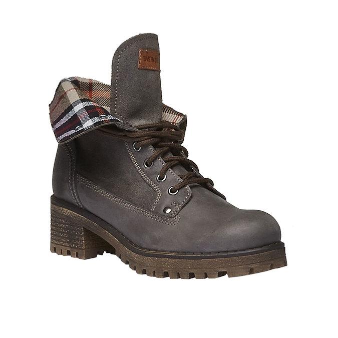Chaussures en cuir à semelle tracteur avec bordure originale weinbrenner, Gris, 694-2167 - 13