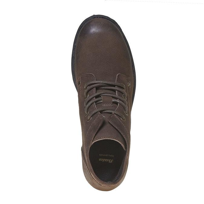 Chaussure montante en cuir pour homme bata, Brun, 896-4704 - 19
