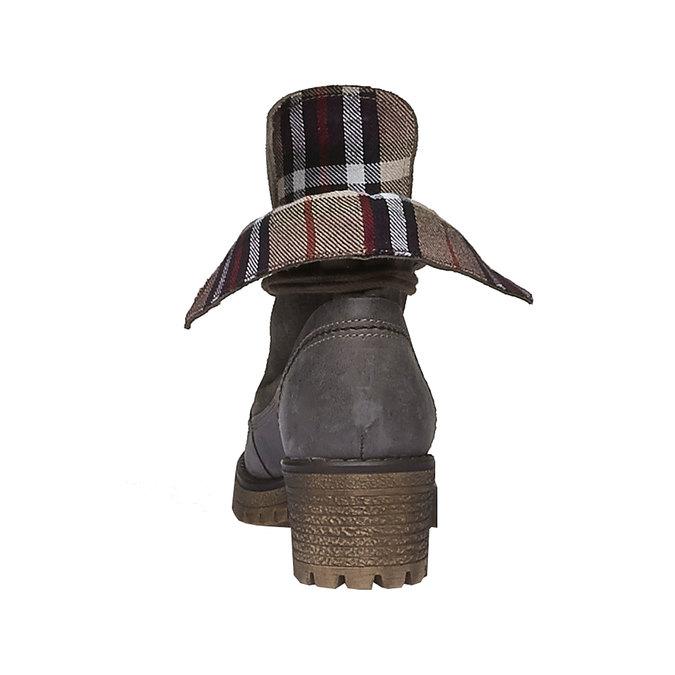 Chaussures en cuir à semelle tracteur avec bordure originale weinbrenner, Gris, 694-2167 - 17
