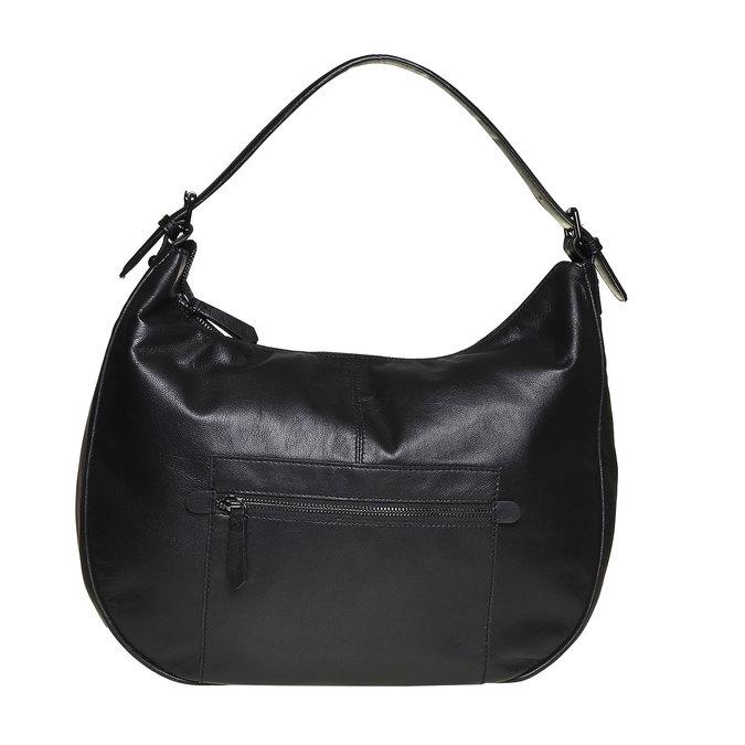 Sac à main en cuir dans le style Hobo bata, Noir, 964-6249 - 26