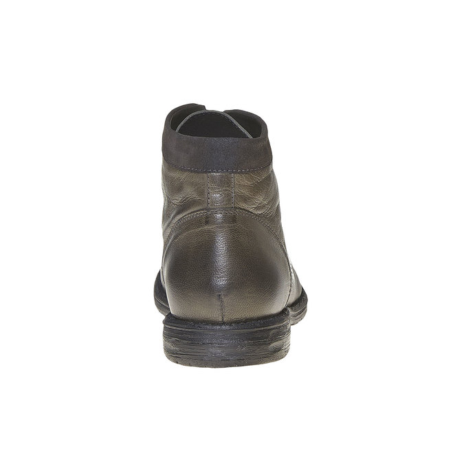 Chaussure montante en cuir pour homme bata, Gris, 894-2704 - 17