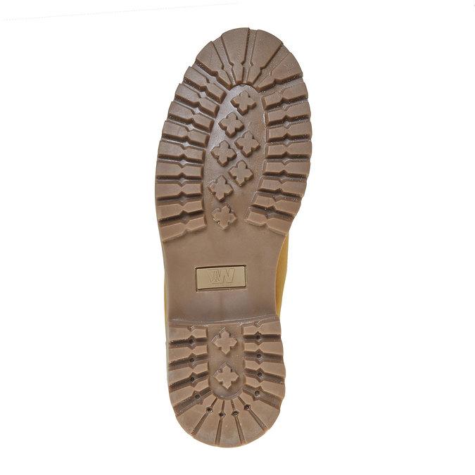 Chaussure d'hiver en cuir pour homme weinbrenner, Jaune, 896-8705 - 26