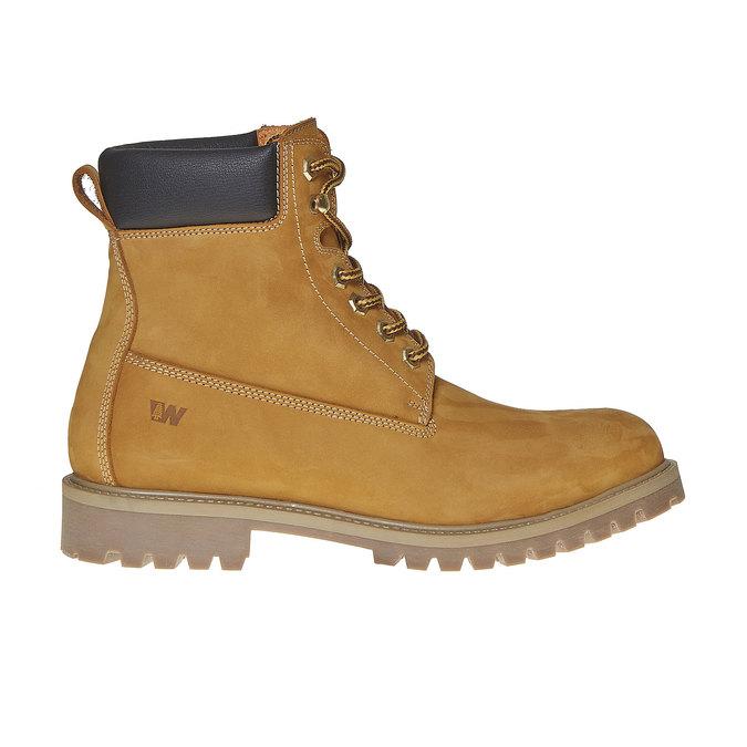 Chaussure d'hiver en cuir pour homme weinbrenner, Jaune, 896-8705 - 15