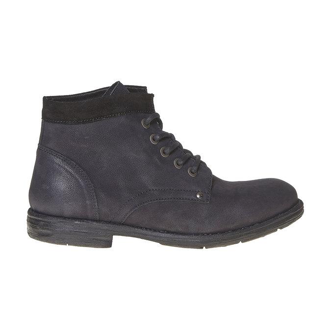 Chaussure montante en cuir pour homme bata, Noir, 896-6704 - 15