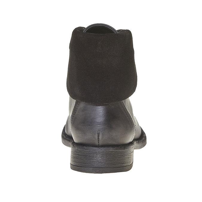 Bottine femme en cuir sundrops, Noir, 594-6450 - 17