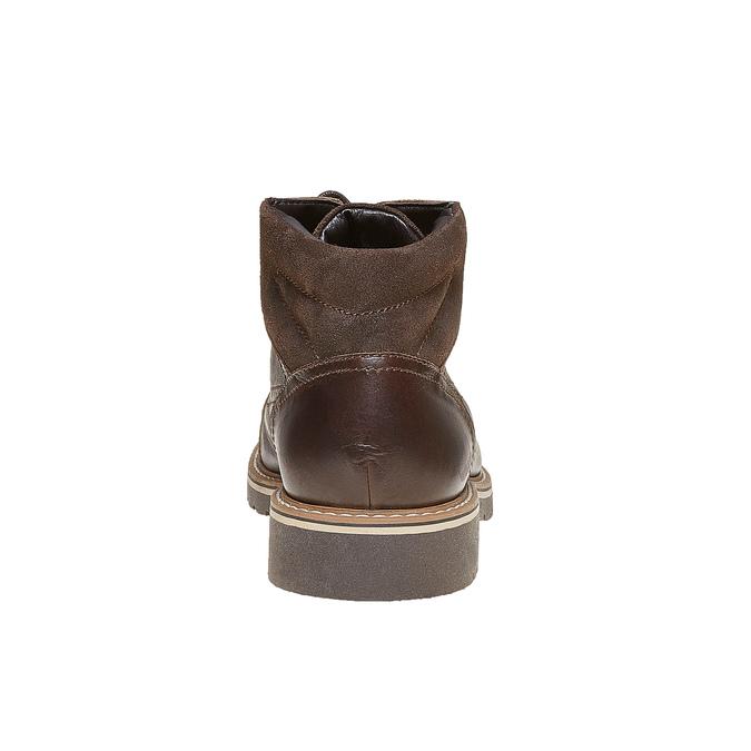 Chaussure montante en cuir bata, Brun, 894-4561 - 17