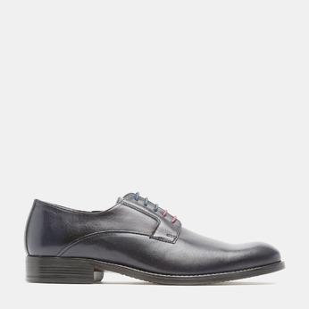 Chaussure lacée Derby en cuir bata, Violet, 824-9874 - 13