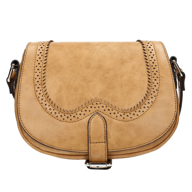 Sac Crossbody perforé bata, Brun, 961-3337 - 26