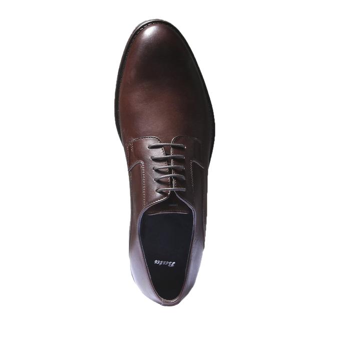 Chaussure lacée Derby en cuir bata, Brun, 824-4874 - 19